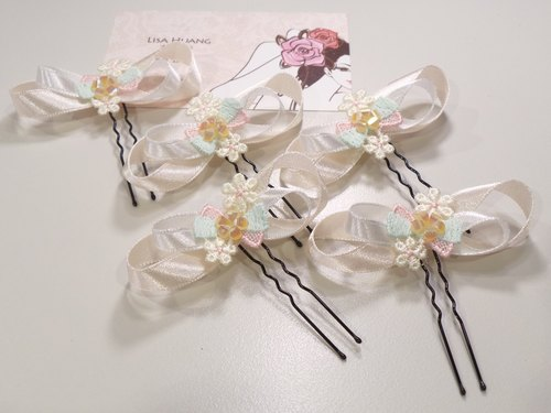 Japanese style small bow hair plug group -Lisa-Snail Design