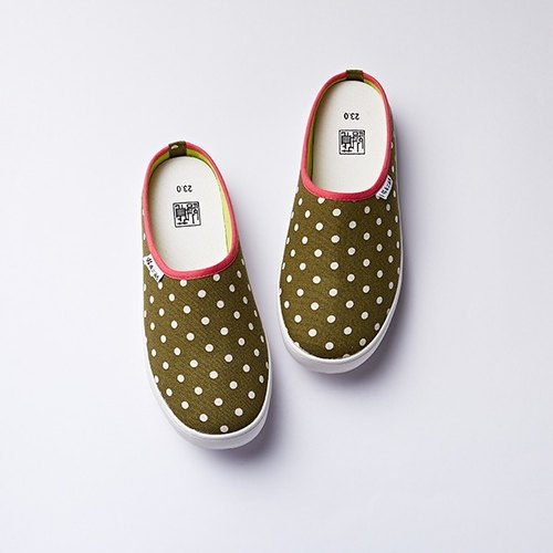[Micro] Xianduruila の large size shoes and comfortable Release / Matcha forest cloth / canvas shoes / Walking slipper / Size 26