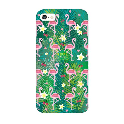 Cute pink crane love jungle phone shell