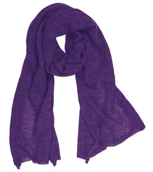 "Earth tree fair trade & amp; Eco- ""Alpaca Series"" - Alpaca Scarves (purple)"