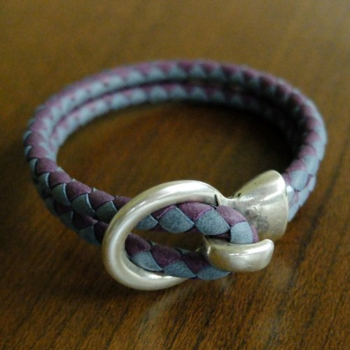 Braided version pirate captain really Pipi Sheng bracelet (gray + purple)