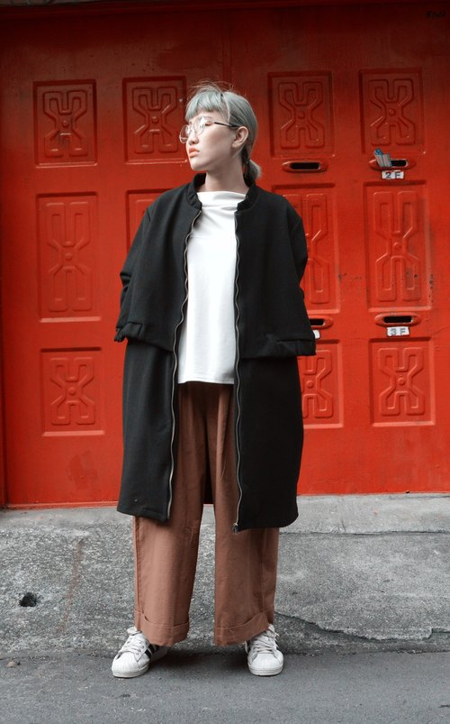 Layered Longline Overcoat