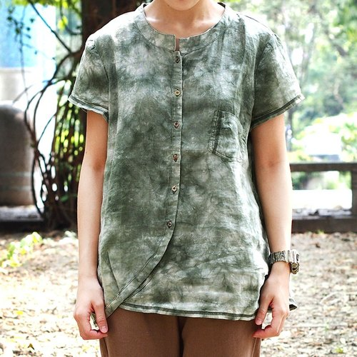 Calf Calf Village ├ original village not Zhuangshan ┤ retro styling collar blouse blooming wearing jade stone {}
