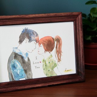 7-inch watercolor render portrait book / customization / couple / lover gift / friendship memorial (excluding box)