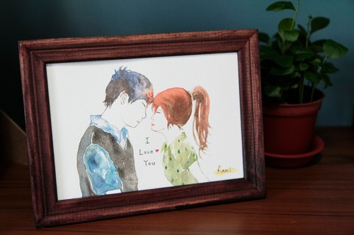 7 inch watercolor render portrait book / customization / couple / lover gift / friendship memorial (excluding box)
