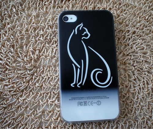Phone Case Iphone 5 / 4s / 4 - met cat