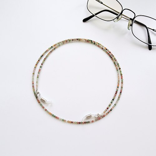 Indian Agate Beaded Eyeglasses Holder Chain - Gift for Mom & Dad