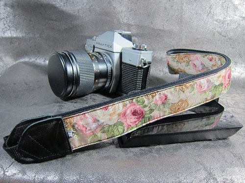 """ English Rose "" reduced camera strap Ukulele strap Camera Releasing Neck & Ukulele Strap"