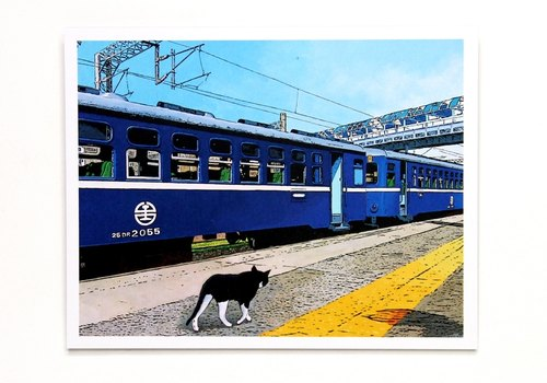 Railway illustration postcard stroll memory nostalgia (TRA official licensed version)