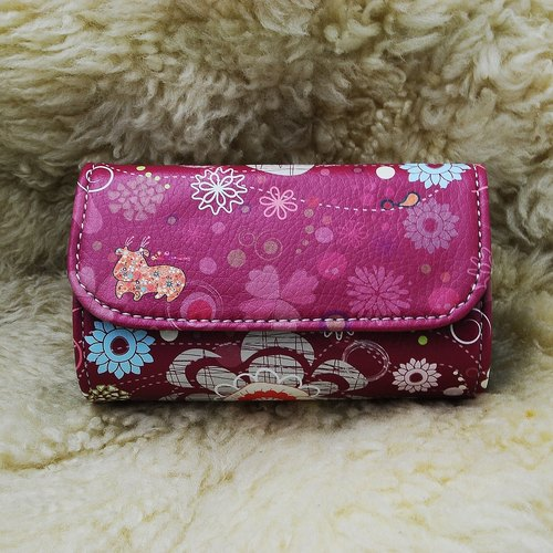 RedCow original pattern purse red patent sushi package (bundled with paragraph wrist band)