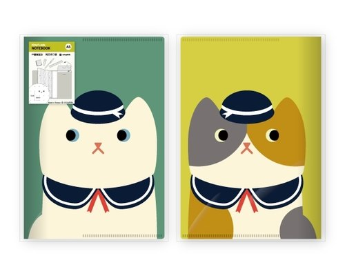 hime's cats notebook slipcase my cat - cute cat