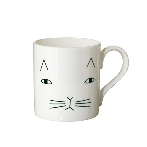 Mog bone china mug | Donna Wilson