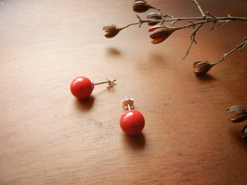 *Coucoubird*clown red nose / 925 silver earrings