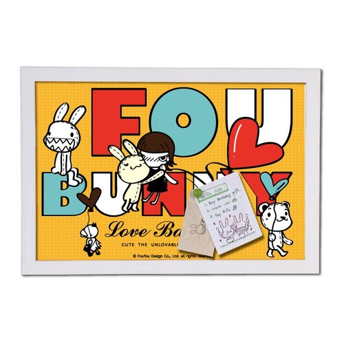 """Foufou"" box painting can also message boards - Love Balloon"