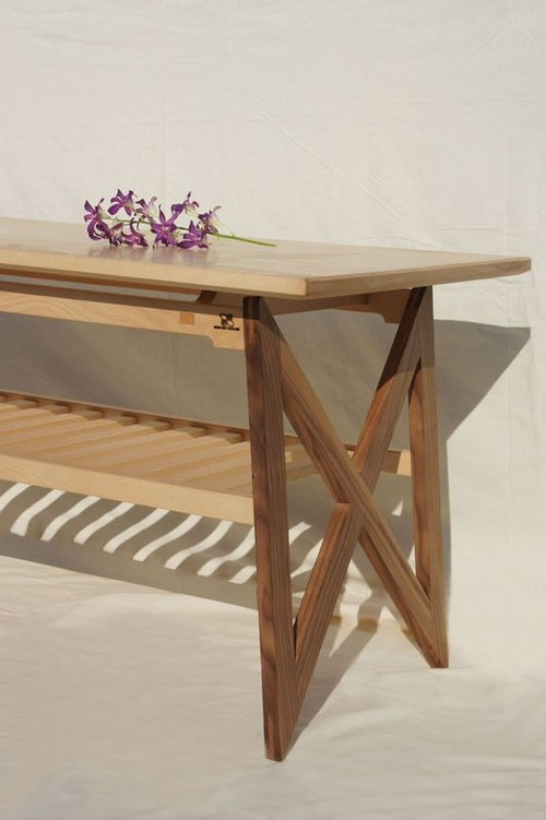 Vincenzo wood sen zuo mu / butterfly Ji (coffee table. Tables)