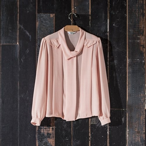 / Ringo Dream / pink vintage small lapel shirt vintage