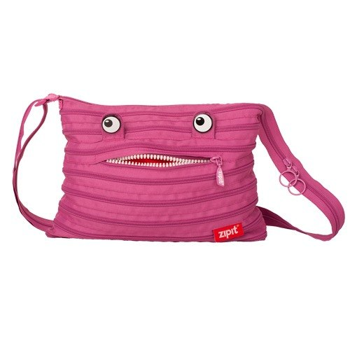 Zipit monster oblique backpack - Pink