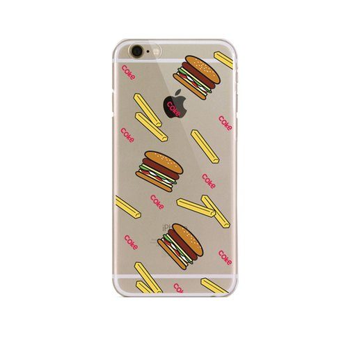 Girl apartment :: Artshare x iphone 6 Transparent Phone Case - American fast food
