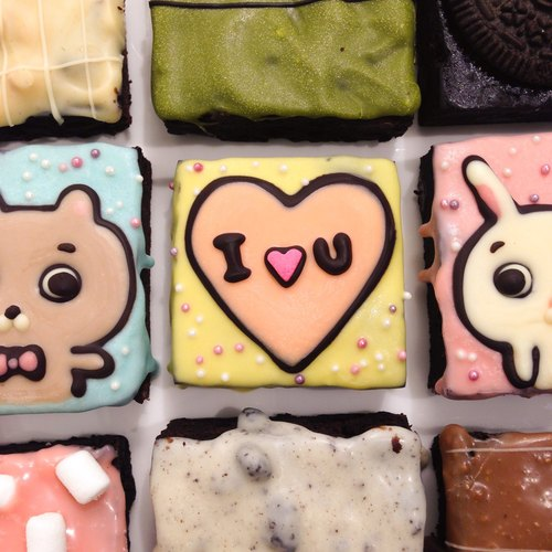 [Bear] Mr. brownies into raging love you 9 boxes / Valentine painted Brownie