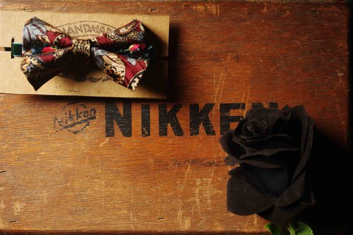 Papa's Bow Tie- tie restructuring antique handmade cloth flowers embossed tie - Gentleman Bhutan Bhutan gentlemen-small