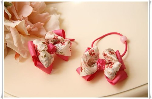 Lovely flowers bow hairpin / hair bundle