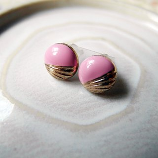 Time Travel vintage reserve pin earrings【Pink baby】