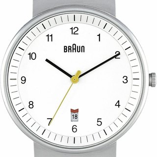 BRAUN BN0032 classic male quartz watch (white)