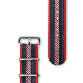 HYPERGRAND Military Strap - 22mm - VARSITY Vassite College (Silver Buckle)