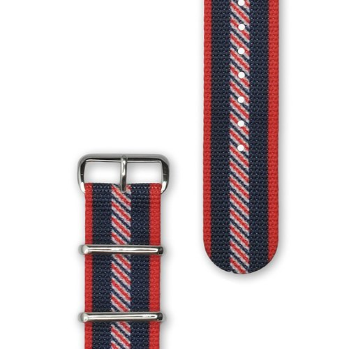 HYPERGRAND Military Strap - 22mm - VARSITY Waltz College (Silver Buckle)