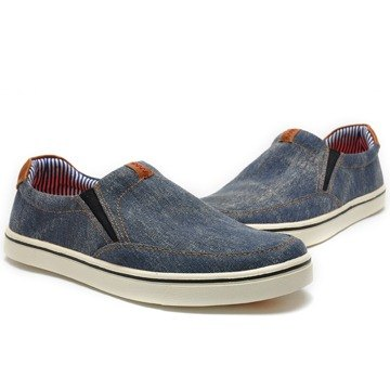 Temple filial piety Japanese-style lazy canvas convenience shoes tannins blue