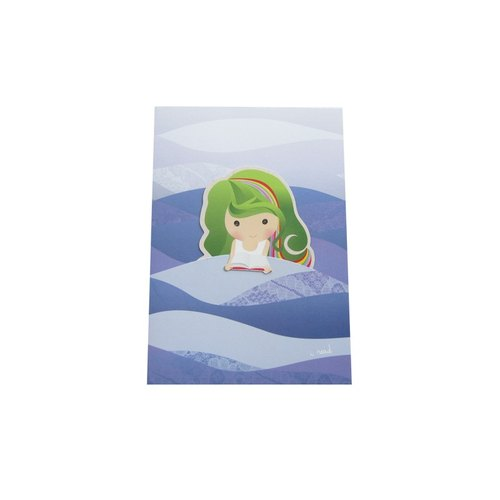 Kueh Lapis Girl Mermaid Card with Bookmark