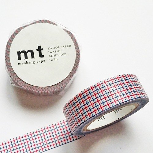 mt and paper tape Deco [square - burgundy + smoky blue (MT01D273)]