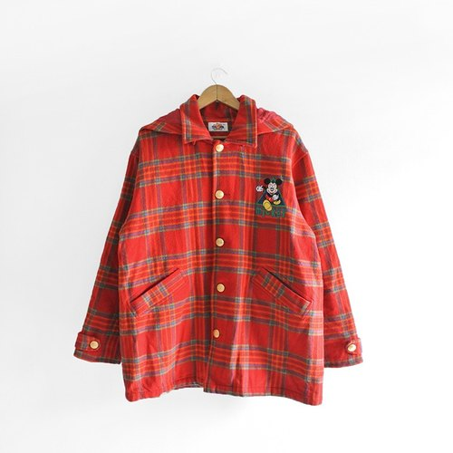 │Slowly│ children recalled Mitch. - Check vintage plaid wool coat │vintage lovely colorful vintage art....