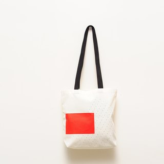Red water canvas bag