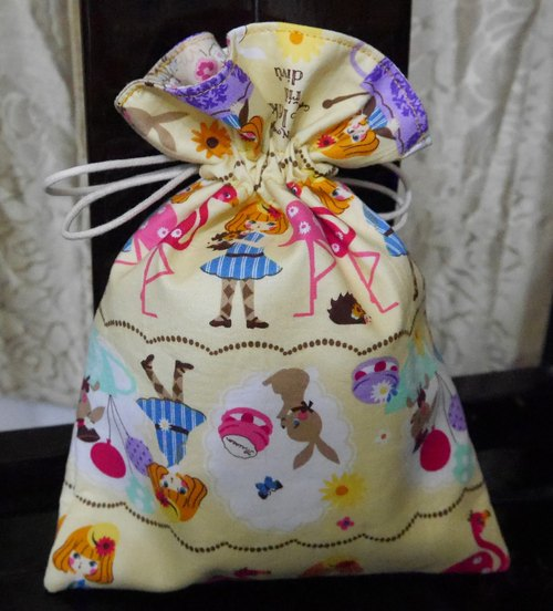 Cream sweet cute fabric pouch NEW *