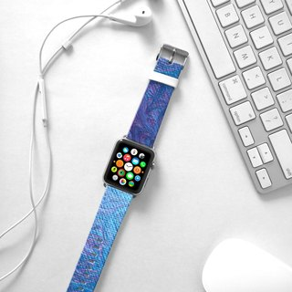 Apple Watch Series 1  , Series 2, Series 3 - Apple Watch Series 1 and Series 2 - Abstract art Blue Watch Strap Band for Apple Watch / Apple Watch Sport - 38 mm / 42 mm avilable