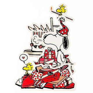 Snoopy, I am blowing candles [Hallmark-Peanuts Snoopy - Stereo Card Birthday Blessing]