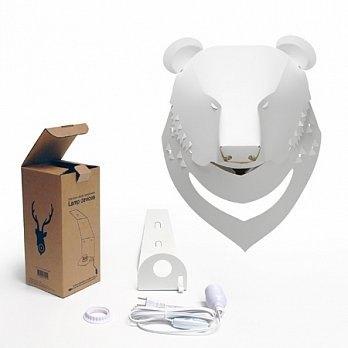 台灣黑熊壁燈 (燈罩+燈座電線組) Formosan Black Bear Lampshade