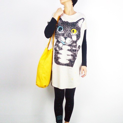 :. Urb [female] color vision cat / oblong attached rope wear subsection / Beige