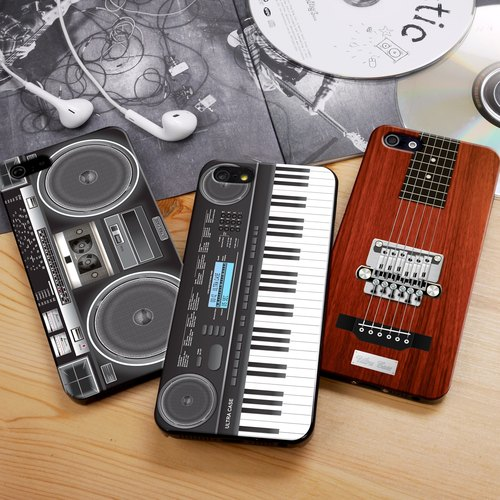 Ultra Sound Boombox Black (Left) Print Soft / Hard Case for iPhone X,  iPhone 8,  iPhone 8 Plus,  iPhone 7 case, iPhone 7 Plus case, iPhone 6/6S, iPhone 6/6S Plus, Samsung Galaxy Note 7 case, Note 5 case, S7 Edge case, S7 case