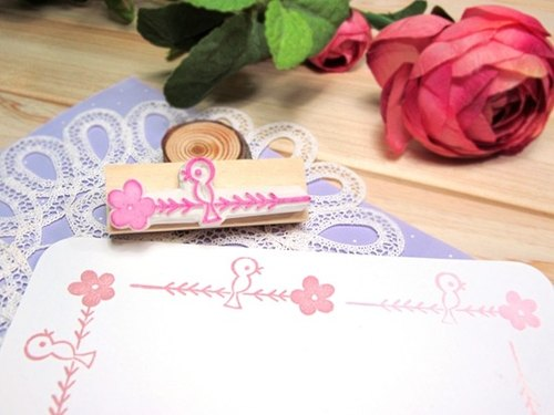 Apu Handmade Rubber Stamps Squid Bird Stamps