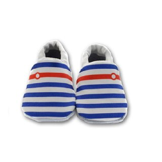 [European system] little sailor First baby shoes handmade soft toddler shoes / indoor shoes