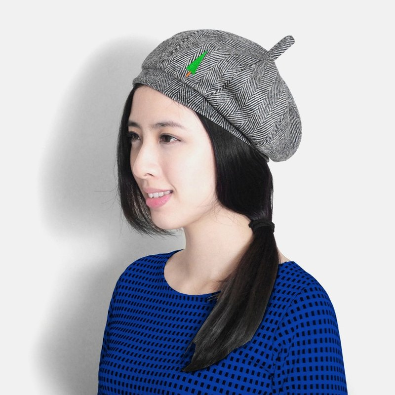 Exclusive  small hand-made thin tree   gray hemp wool hat pumpkin -  Designer moremoretoe  8942f16d27d