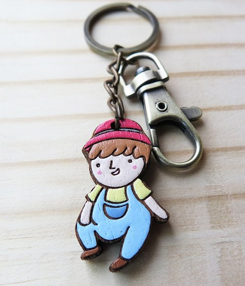 Wooden Keyring The Shepherd Boy