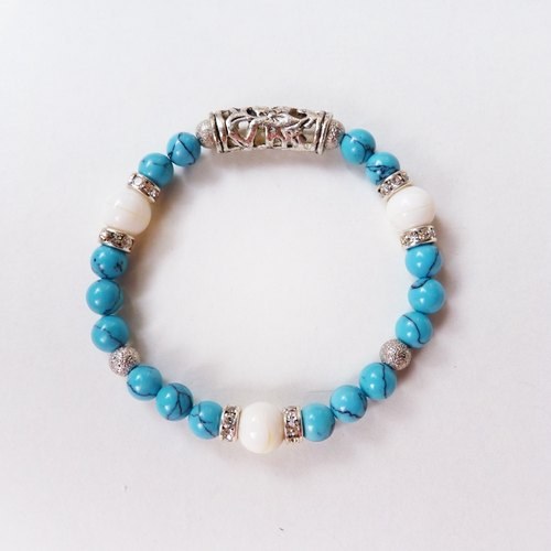 ❖FANG y [summer national wind] turquoise 砗 磲 bracelet