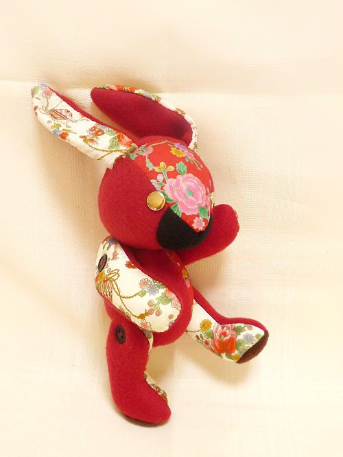 POPO│ Alice Rabbit │ hand made. Festive red
