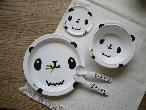 mixmania pudgy black and white panda Shipping tableware shipped free combination