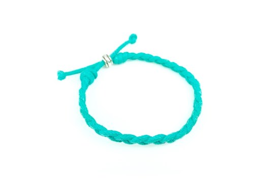 """Green Lake twist braided rope bracelet"""