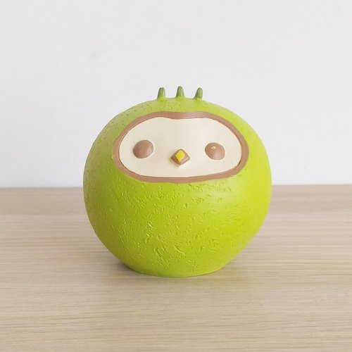 Cloth Seed Bio Apple Bird Ornament (Vanilla Green)