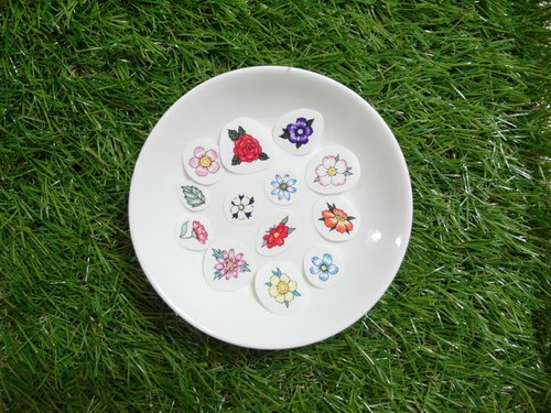 Secret Garden Flower Stickers (35 in)